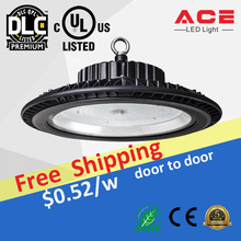 IP65 Tempered glass or PC cover dimmable UFO LED High Bay warehouse lighting led