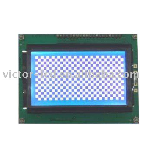 STN Negative Blue 128 x 64 Graphics LCD Module WTPGM12864A