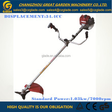 Single Cylinder 34.4cc Straight Type Petrol Brush Cutter with Spare Parts For Garden 28mm Pipe Diameter
