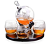 World Map decals Decanter With 2 Globe Glasses Perfect Gift Whiskey Glass Globe decals Decanter Set