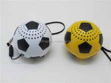 Mini size fashion football design bluetooth speaker ball,unique bluetooth speaker