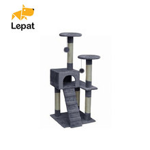 Wholesale sisal natural luxury cat toy scratching wooden cat tree