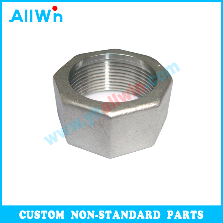 Customized Parts Passivated Fasteners 304 316 Stainless Steel Hex Head Union Nuts