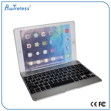 Bluetooth wireless backlit aluminum metal portable mini thin backlit keyboard with ultra slim case cover for iPad Air