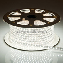 Super bright 220v led strip light with AC power cord plug waterproof 5050 smd flexible led strip 60pc leds/m high