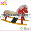 2015 outdoor playground spring horse,ride on spring horse for baby,Colorful plush rocking horse with wooden base for kids TS0015