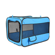 Pet Home Collapsible Foldable Cat Cage Dog Kennel Pet Carrier With Mat