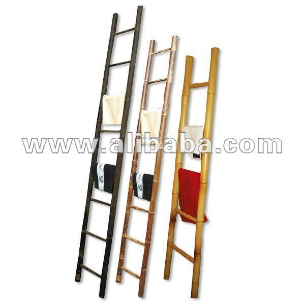 escada para o jardim:Escada de bambu para o banheiro ou jardim decorativo, acessório com a