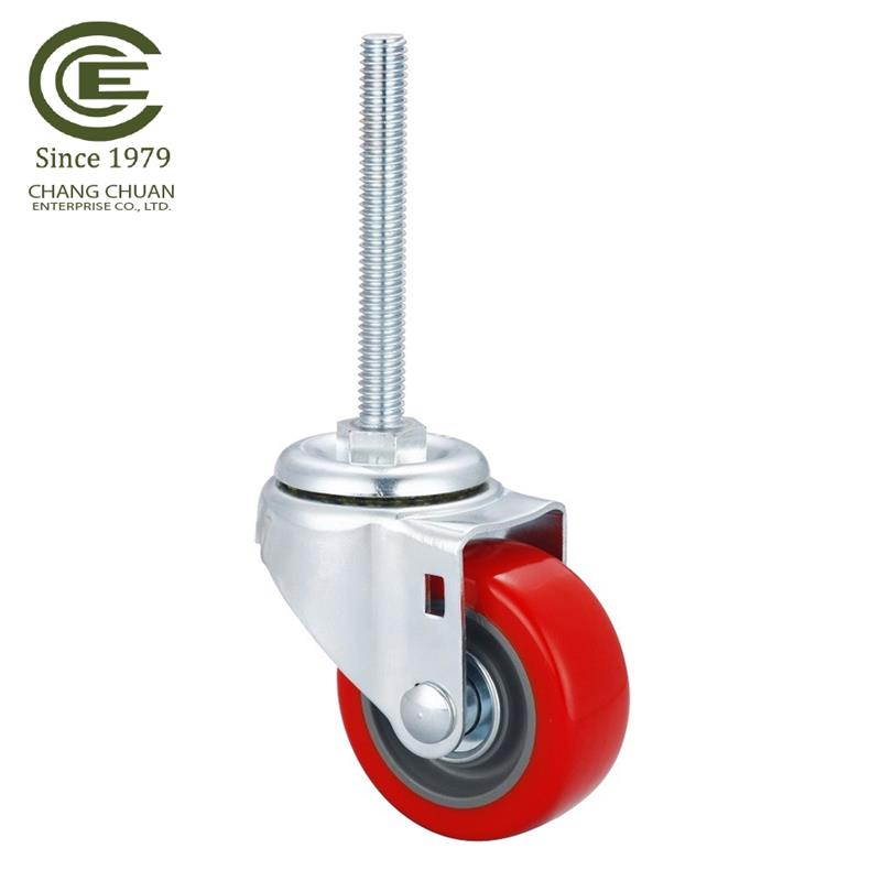 new product 3 inch Industrial Rigid Swivel Wheels HD Farm Cart Caster