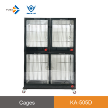 KA-505D Wholesale cost effective duplex kennel run dog house dog cage pet house for display