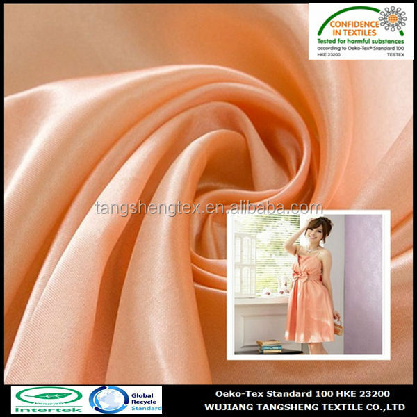 2014 new popular 100% polyester dupont satin fabric