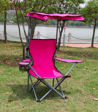 Pink Color Children's folding Beach Chair With Sun Canopy Wholesale
