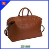China oem manufacturer leather duffle travel bag sports travel bag genuine cow leather weekender bag wholesale
