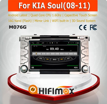 HIFIMAX Android 4.4.4 special car gps navigation system for Kia Soul 2008 dashboard auto radio dvd gps with car accessories