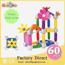 60PCS magnetic ball rod toys for kids flower magnetic stick toys