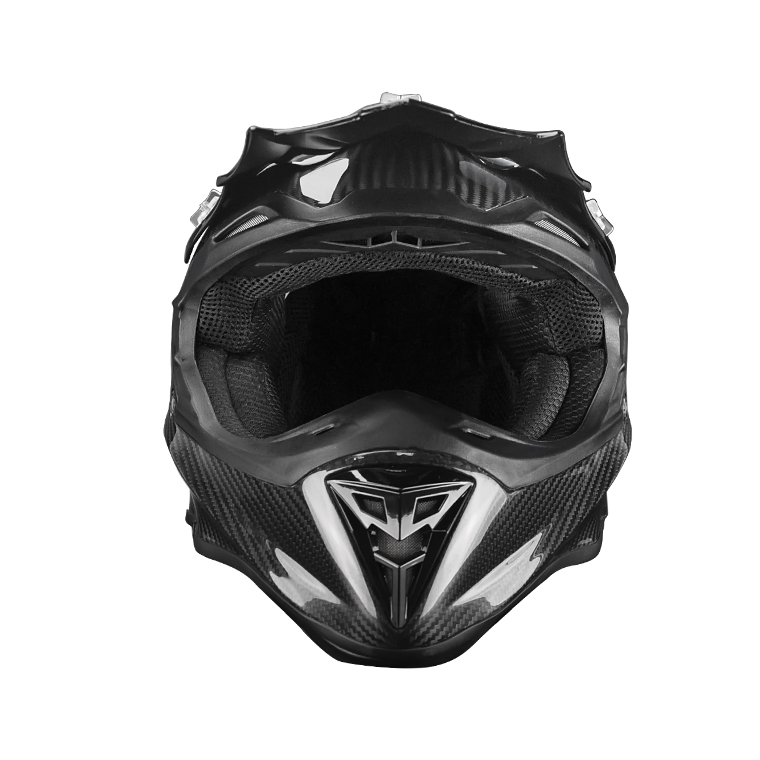 China Wholesale OEM ODM Luxury Black Carbon Fiber Fashion Style Motorcycle Off-road Helmet
