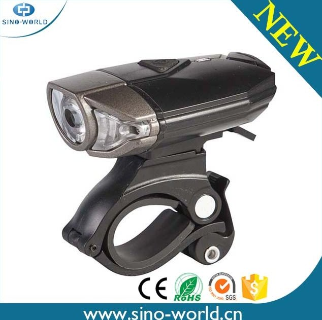 Bike Front Head Light, 300 Lumen LED Rechargeable Aluminum Bicycle Light