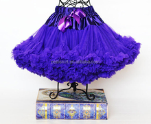 High Quality Lavender Chiffon Fluffy Pettiskirt Tutu Girls Party Skirt For Kids Wholesale Baby Girls Petticoat