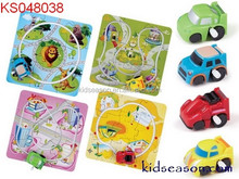 WIND UP MINI CAR WITH PUZZLE RAIL, HIGH QUALITY WIND UP TOYS FROM KIDSEASON