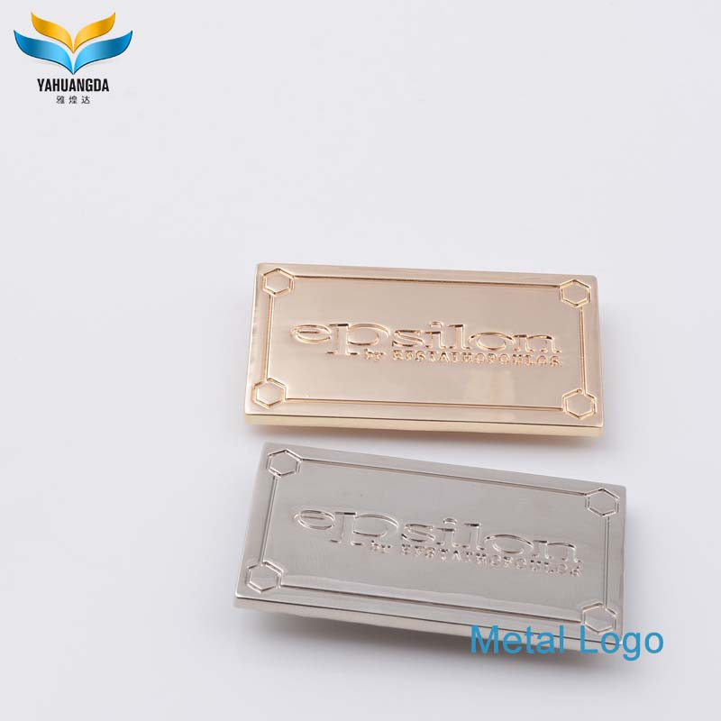 new product handbag metal brand logo plate