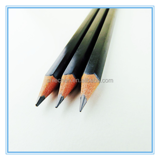 Student plastic black lead pencil in bulk
