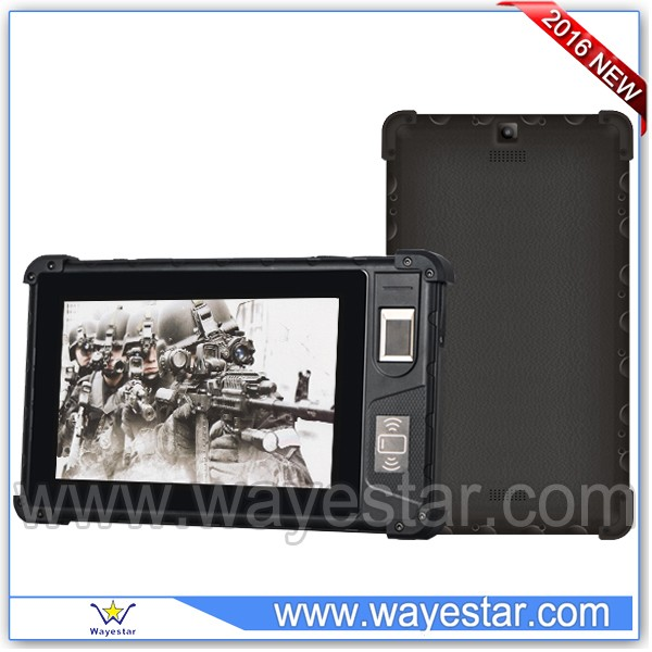 W805 Hot Selling NFC rugged 3G tablet Dual OS with Barcode scanner /reader fingerprinter