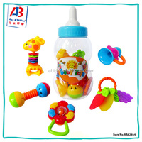 Pretend preschool toys for 6 month old babies hand rattles bell