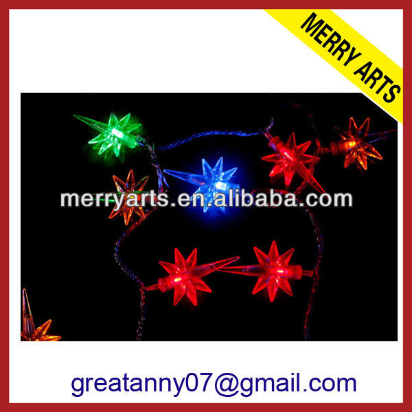 YIwu wholesale market top selling falling star led dmx christmas lights colorful outdoor christmas star lights