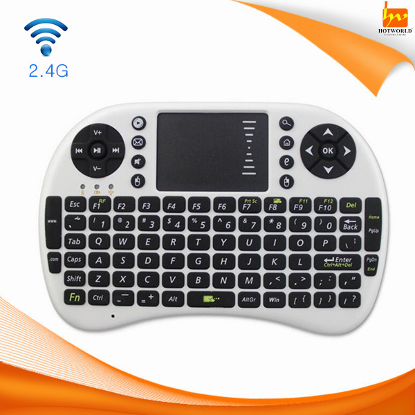 for Android Pad TV, Xbox, PS3, HTPC/IPTV, Mini 2.4GHz Wireless Touchpad Keyboard