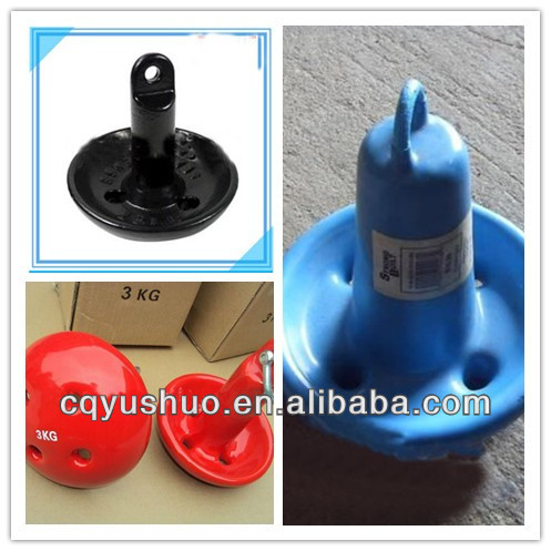 Marine Plastic /Steel Mushroom Anchor for ship and boat