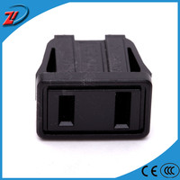 Output 2 pin flat electric plug
