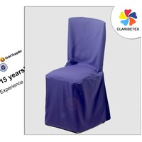 Latest Style Navy Blue Taffeta Party Chair Cover upholstery fabric