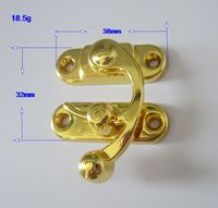 Manufacturer Shiny gold metal clasp for jewelry box