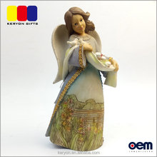 Factory Price Oem High Quality Resin Angel Figurines For Christmas Decorations