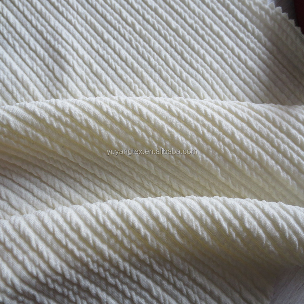 Knit Swirl Quilted Jacquard Fabrics Textiles for Wear