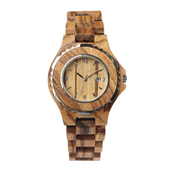 2018 classical bamboo wooden watch women wristwatches leather quartz watch