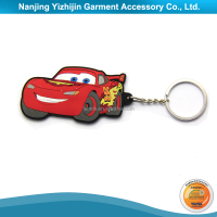 Custom Rubber Special Design Cartoon Car Keyring