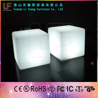 IP68 Waterproof 16 Colors Changing Rechargable Plastic LED Cube, Cube Chair, LED Lighting Cube
