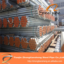 ASTMA53 ERW welded hot dipped GI scaffold tube for sale construction material made in china