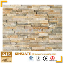 Beige glued slate S-0507A stone for exterior finish