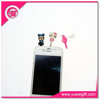 Mobile phone accessories earphone dust plug customized mobile dust plug for attachment