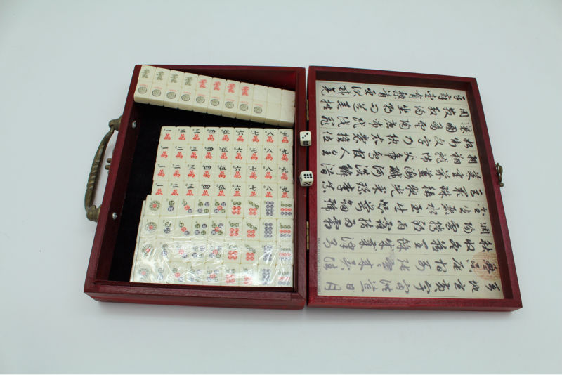 Chinese mahJong durable hot selling hardcover set for travel gift set