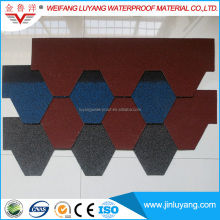 Waterproof Roofing Material High Quality Colorful Asphalt Fiberglass Shingle
