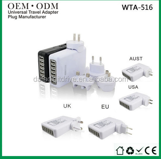 Wontravel OEM universal adapter, usb travel adaptor manufacturers for gift items