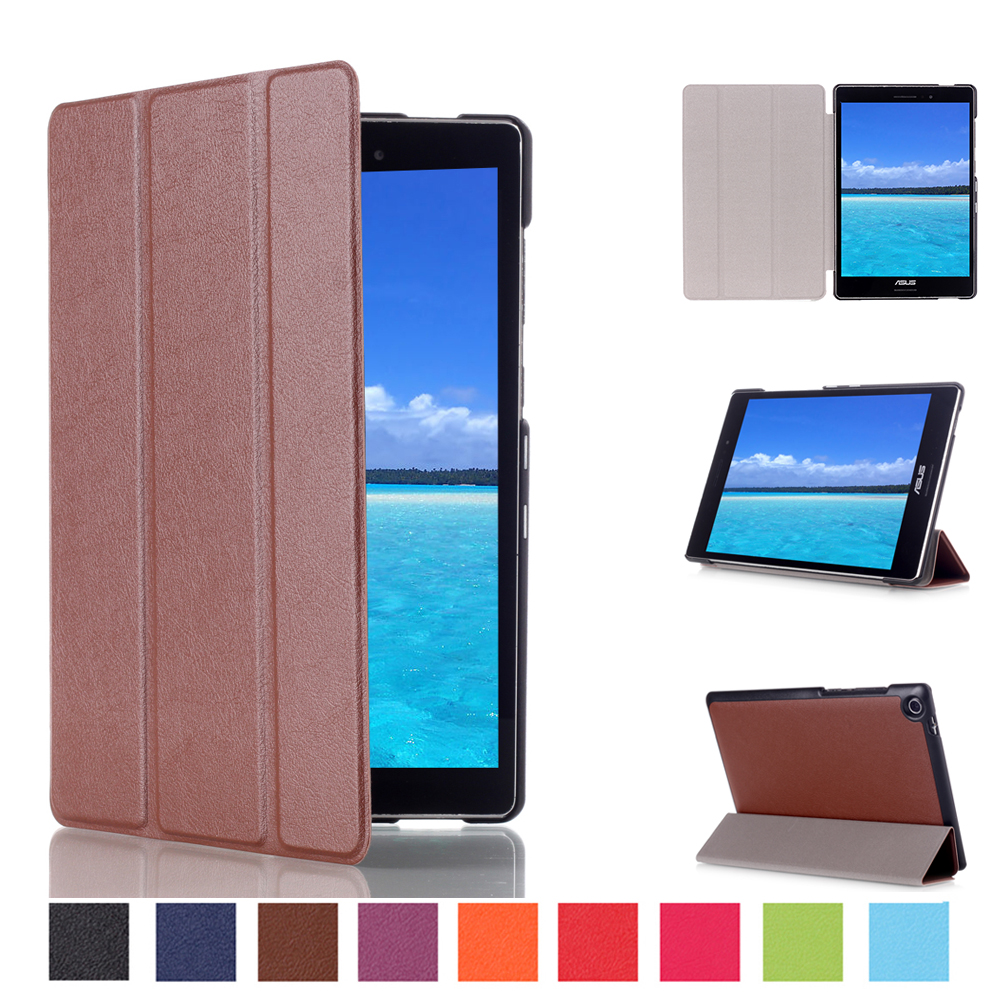 Popular 2015 Hot Sell Tablet Accessories KST Pattern 8inch Tablet Solid PU Leather Flip Cover for Asus Zenpad S 8.0 Z580C