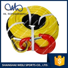 (WL ROPE)UHMWPE synthetic ATV/UTV winch rope with hook thimble