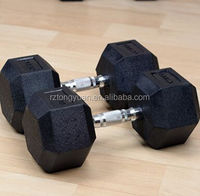 Rubber Coated Hex Dumbbells Dumbells for Gym/Home Fitness