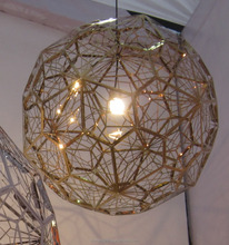 Etch Web Pendant light/lamp Brass Black/Gold/Chrome/Copper/Rose Gold/Titanium Color
