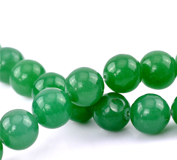 1 Strand Round Green Synthetic Aventurine Gemstone Loose Beads 12mm Dia.