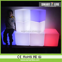 LED bar furniture LED light night club disco decor PE illuminated led cube chair